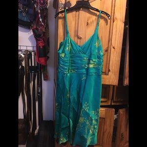 Dresses & Skirts - Beautiful 100%Silk Cocktail Dress Emerald Green
